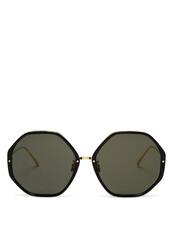 oversized,sunglasses,gold,black