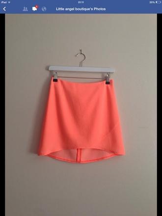 skirt neon skirt irregular hem irregular skirts