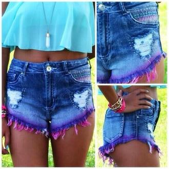 shorts dip dyed