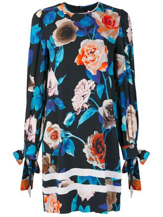 dress women spandex floral blue