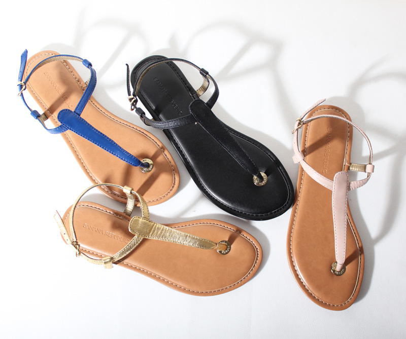 e8bff6bb84c Free shipping sexy cutout genuine leather flat heel women's gladiator shoes  flat sandals flip flop black/nude sandals-inSandals from Shoes on ...
