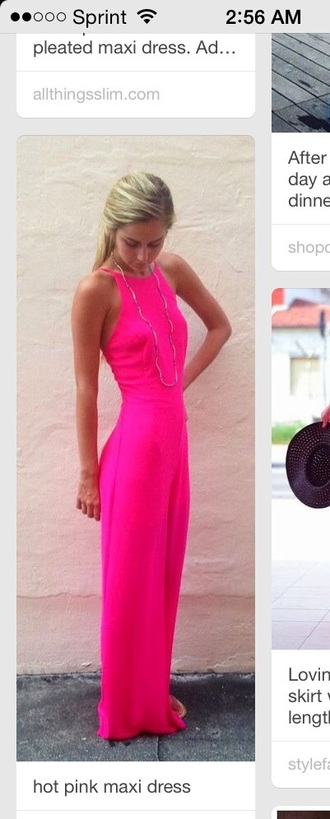dress pink dress neon colorful maxi dress maxi skirt maxi summer dress style summer fashion chic love cute dress pretty sexy dress beach dress beach spring long dress