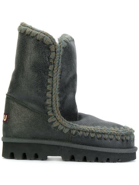 Mou women wool green 24 shoes
