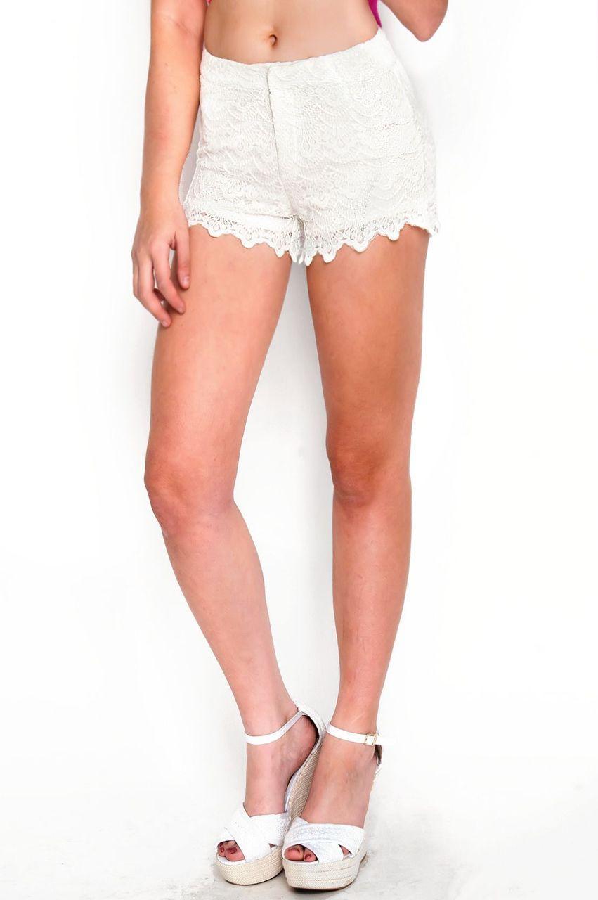 Free spirit crochet & lace shorts