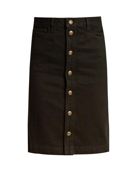 A.P.C. skirt mini skirt denim mini black
