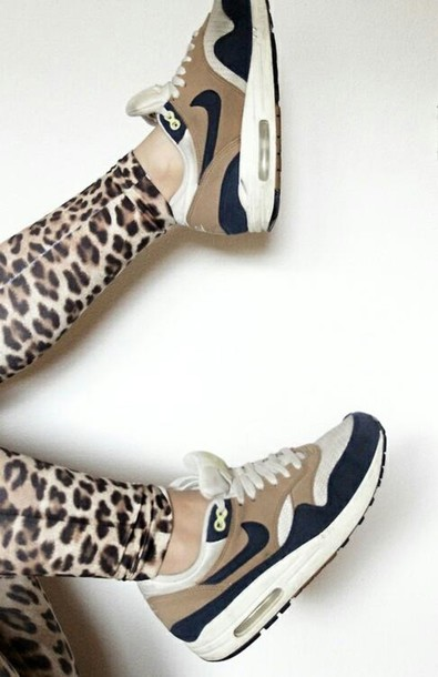 new concept 20c1c 589f4 shoes nike nike sneakers air max air max swag nike air black and gold  leopard print
