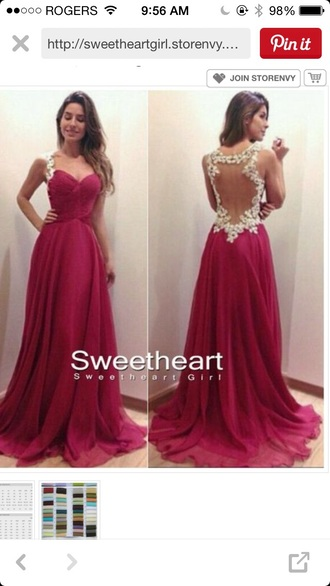 dress red chiffon dress