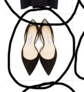 shoes,jimmy choo,ballet flats,flats,black