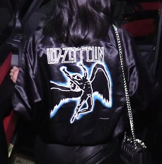 jacket black blue bag leather satin street style chic angel all black everything heels hair rock bomber jacket shoulder bag satin bomber