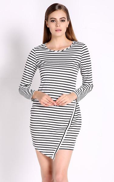 Strilla asymmetric bodycon dress