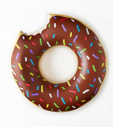 Bigmouth Giant Donut Pool Float, Chocolate | Aerie for American Eagle