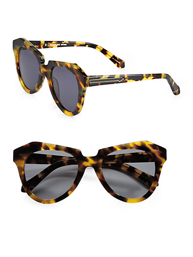 Karen Walker - Number One Tortoise Acetate Cat's-Eye Sunglasses - Saks.com