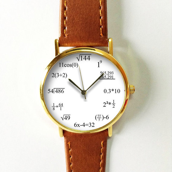 Math Formula Watch Equation Watch Vintage Style Leather