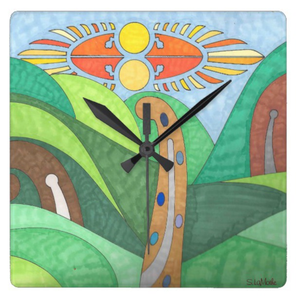 home accessory wall clock abstract art virtual_dzines