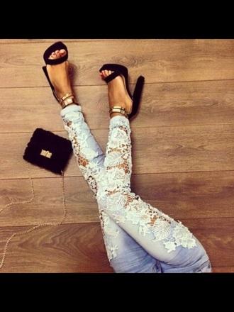 jeans shoes belt bag