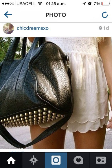 bag leather black gold pointy black leather black leather bag bethany mota