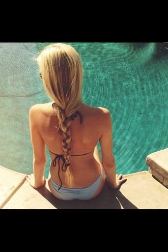 swimwear tiffany blue bikini cute floral bikini patterned bikini bottoms pink neon tie back swim suit