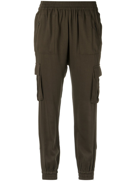 Olympiah - elasticated cuffs trousers - women - Viscose - 40, Green, Viscose