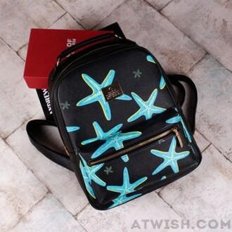 bag starfish blue backpack