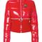 Givenchy - zipper trim convertable puffer jacket - women - cotton/feather down/polyamide/duck feathers - 40, red, cotton/feather down/polyamide/duck feathers