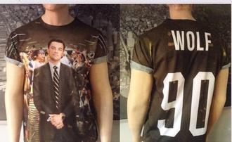 wolf of wall street movies leonardo dicaprio oscars 2014 t-shirt graphic tee top tank top starbucks coffee logo