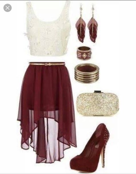 skirt maroon/burgundy soft