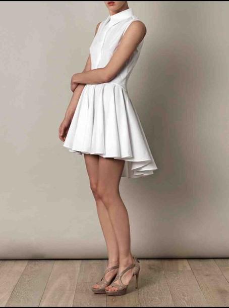 dress white dress collared dress peplum dress button up button up blouse