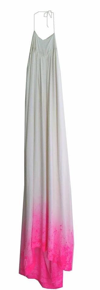 dress ombre hotpink dipdye maxi dress
