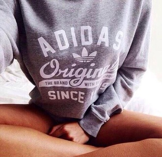 sweater adidas grey gray white love have to have pullover hoodie asap