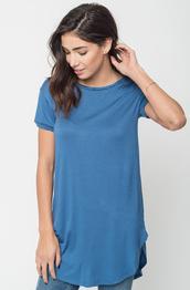 top,round neck tees,round neck tunics,tunic,t-shirt,caraalse,fashion,style,round neck,tees,blue dress,blue