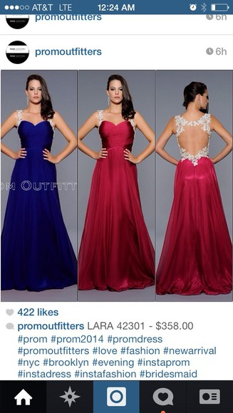dress red evening gown prom beautiful lace blue 2014 long back open silver jewels beautiful ball gowns