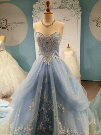 dress light blue dress blue dress ball gown dress strapless dress light blue blue tulle dress long dress prom dress long prom dress cinderella princess prom dress