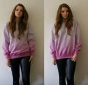 sweater,clothes,pull,knitwear,pullover,leggings,pink,tie dye