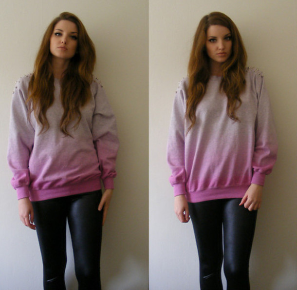sweater clothes pull knitwear pullover leggings leggings pink tie dye
