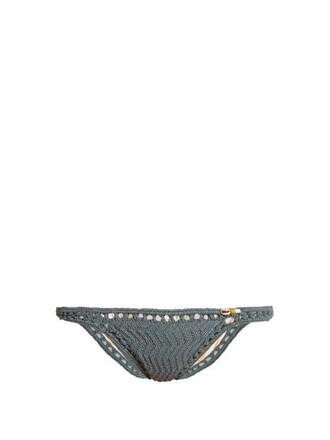 bikini crochet bikini hipster crochet grey swimwear