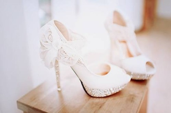 shoes white shoes high heels lace fancy bow sparkles