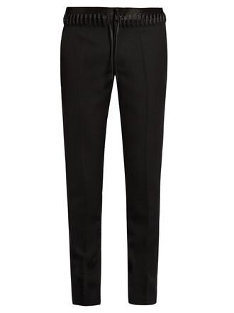 lace wool pants