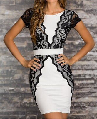 backless dress lace splicing