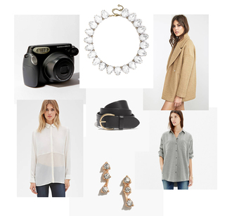 these days blogger jewels belt camera shirt camel coat