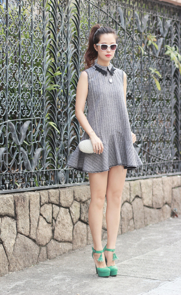 mellow mayo sunglasses t-shirt dress jewels bag shoes