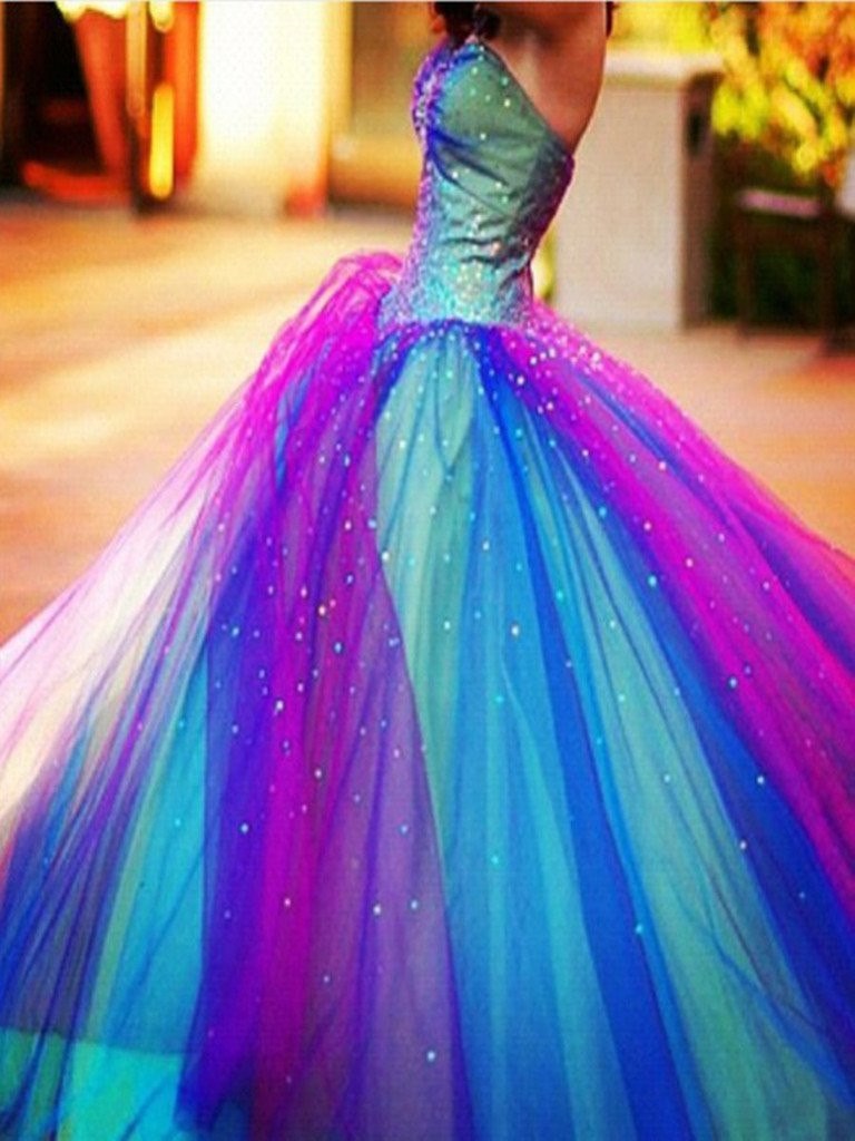 Fine Natural Ball Gown Cocktail Dress,Sleeveless Floor-Length Lace Up Beading Tulle Cocktail Dress