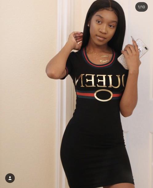 dress queen graphic dress