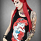 Restyle rebel tattooed ariel the little mermaid singlet tank top gothic punk | ebay