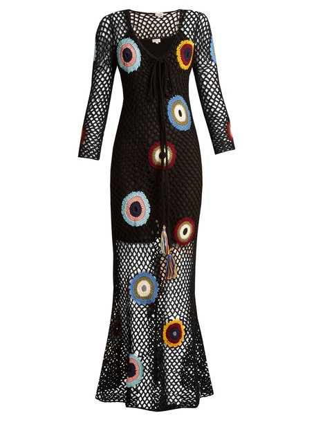 Talitha dress maxi dress crochet maxi dress maxi crochet black