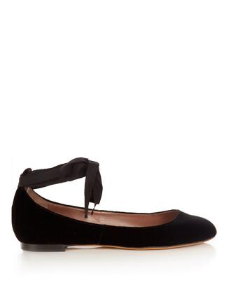 ballet flats ballet flats velvet black shoes
