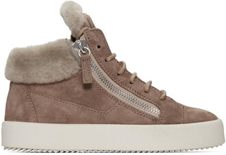 high london sneakers suede beige shoes