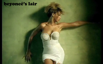 t-shirt beyonce bustier crop tops white lace top sexy strapless video