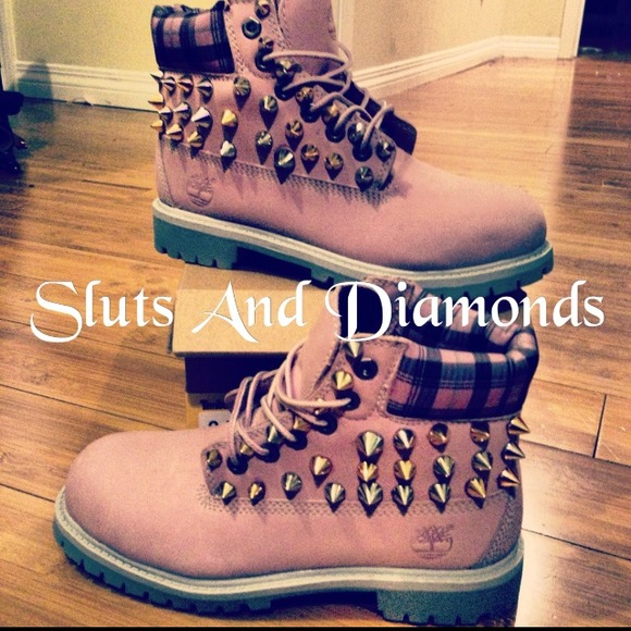 33% off Timberland Boots - Pink Spiked Timberlands  PP$180 from Asia's closet on Poshmark
