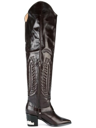 high women boots thigh high boots leather brown shoes