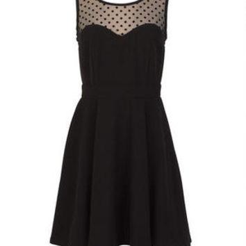 Polka Dot Illusion Dress on Wanelo